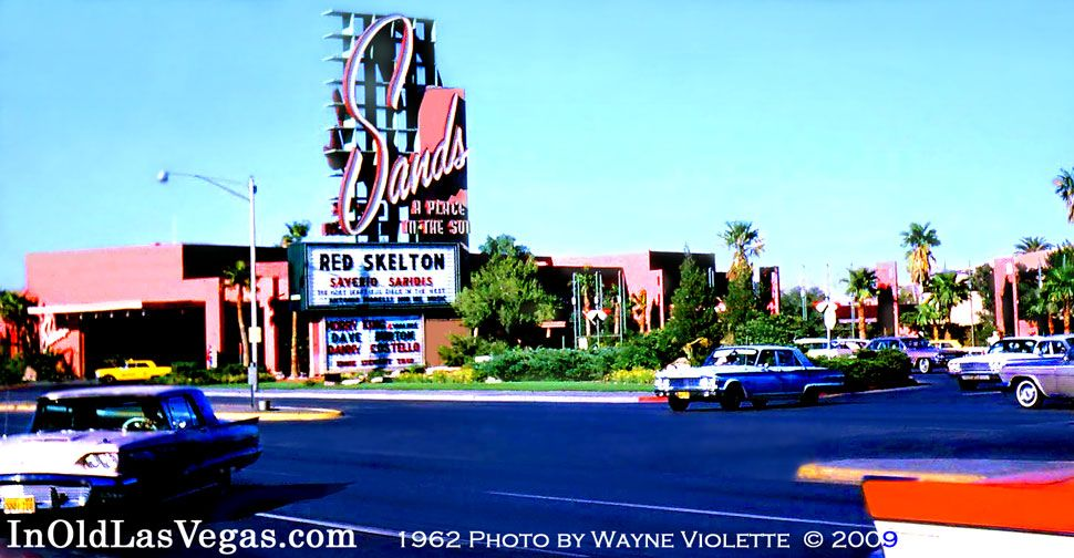 1962 view of the 1952 Sands Casino Now the location of