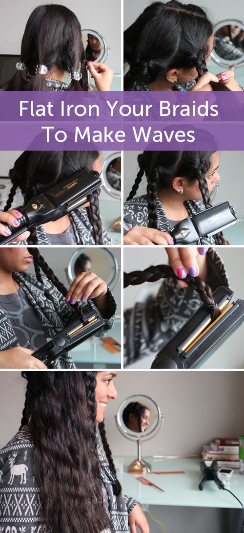 Beauty Hack! Flat Iron Your Braids To Make Waves http://www.hellobrit.com/style/beauty-hack-flat-iron-your-braids-to-make-waves/    Love this, quick easy for a lazy gal like me.
