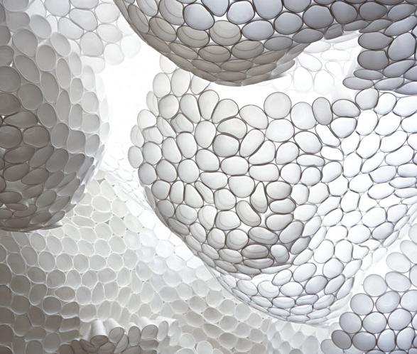 Tara Donovan, Untitled, 2003. Styrofoam cups, hot glue.