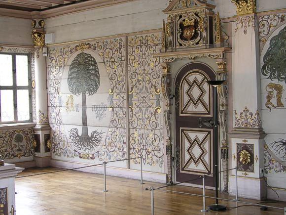 Goldener Saal im württembergischen Residenzschloss Urach