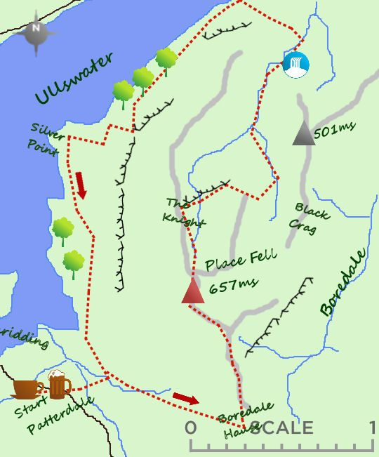 patterdale lake district map Place Fell Map Lake District Cottages Lake District Places patterdale lake district map