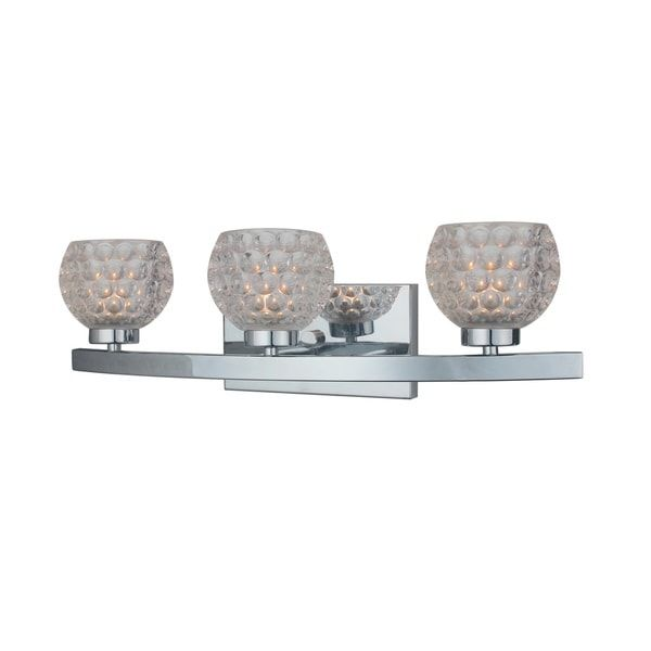 Woodbridge Lighting Charlotte Chrome Steel Crystal 3 Light Bath Vanity