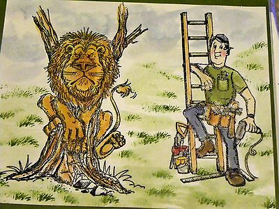 TOOL-MAN, lion in tree, mini grass are sold separately  in my ebay store. Click on picture & it will take you into this listing in my Ebay Store. Made by Art Impressions Rubber Stamps. The Items can be purchased in my ebay Store Pat's Rubber Stamps & Scrapbooks or call me 423-357-4334 with order. We take PayPal. You get free shipping with the phone orders of $30.00 or more