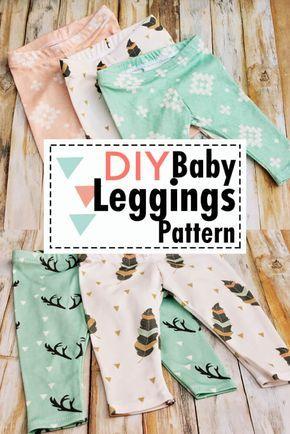 DIY Free Baby Leggings Pattern - Sewing DIY Christmas Baby Gifts #sewing
