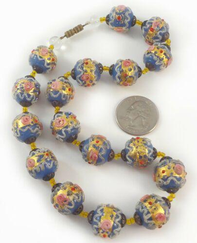 Foil Glass Round Beads 8mm Blue 20 Pcs Art Hobby DIY Jewellery Making Crafts