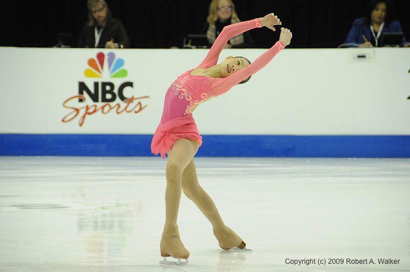 Christina Gao  -Pink Figure Skating / Ice Skating dress inspiration for Sk8 Gr8 Designs.