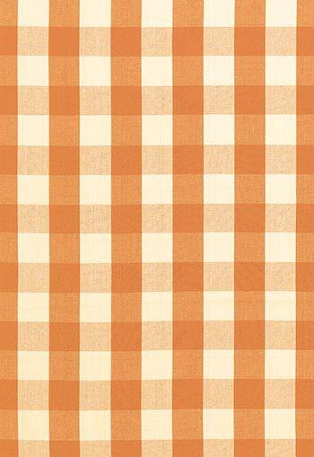 63033 Camden Cotton Check Pumpkin by Schumacher Fabric