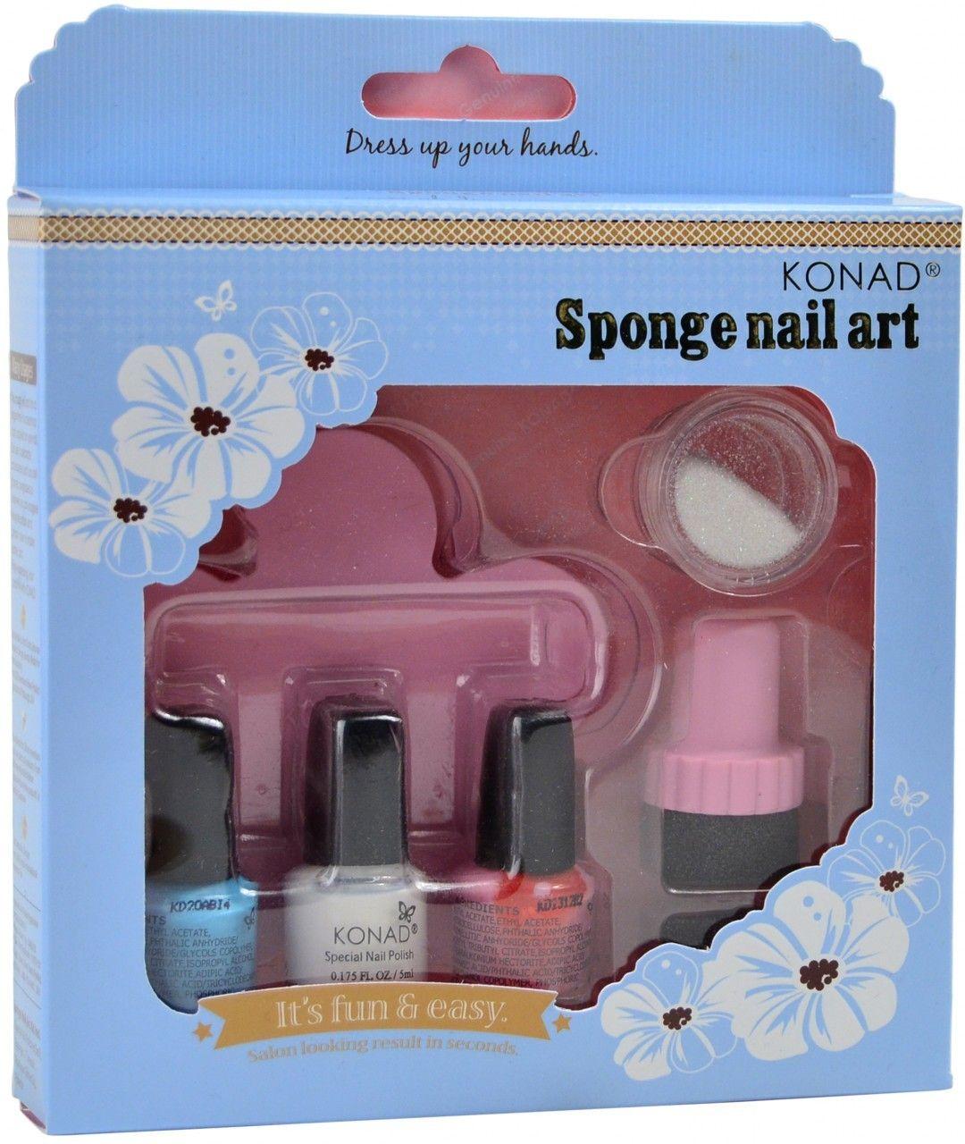 Konad Nail Art Sponge Nail Art Kit, Free Shipping at Nail Polish Canada