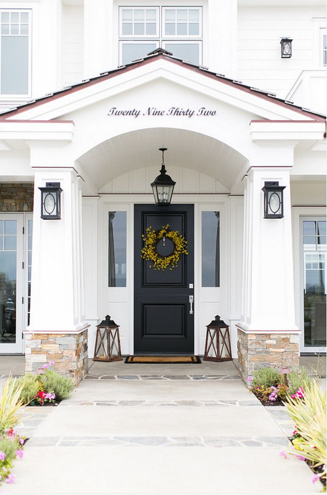 I Love The Walkway Details The Stone On This White House The - Beach house front door ideas