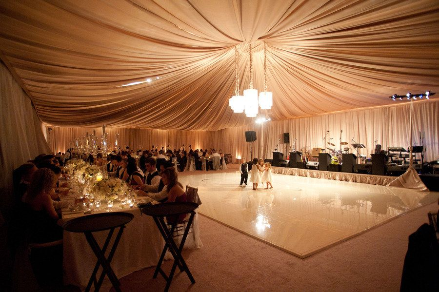 amazing ball room with white dance floor!
