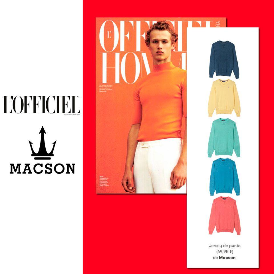 Jersey de punto de #Macson en la revista de moda  @Officiel. #macson #macsonshop
