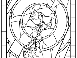image result for beauty and the beast enchanted rose stained glass   ausmalbilder   das biest