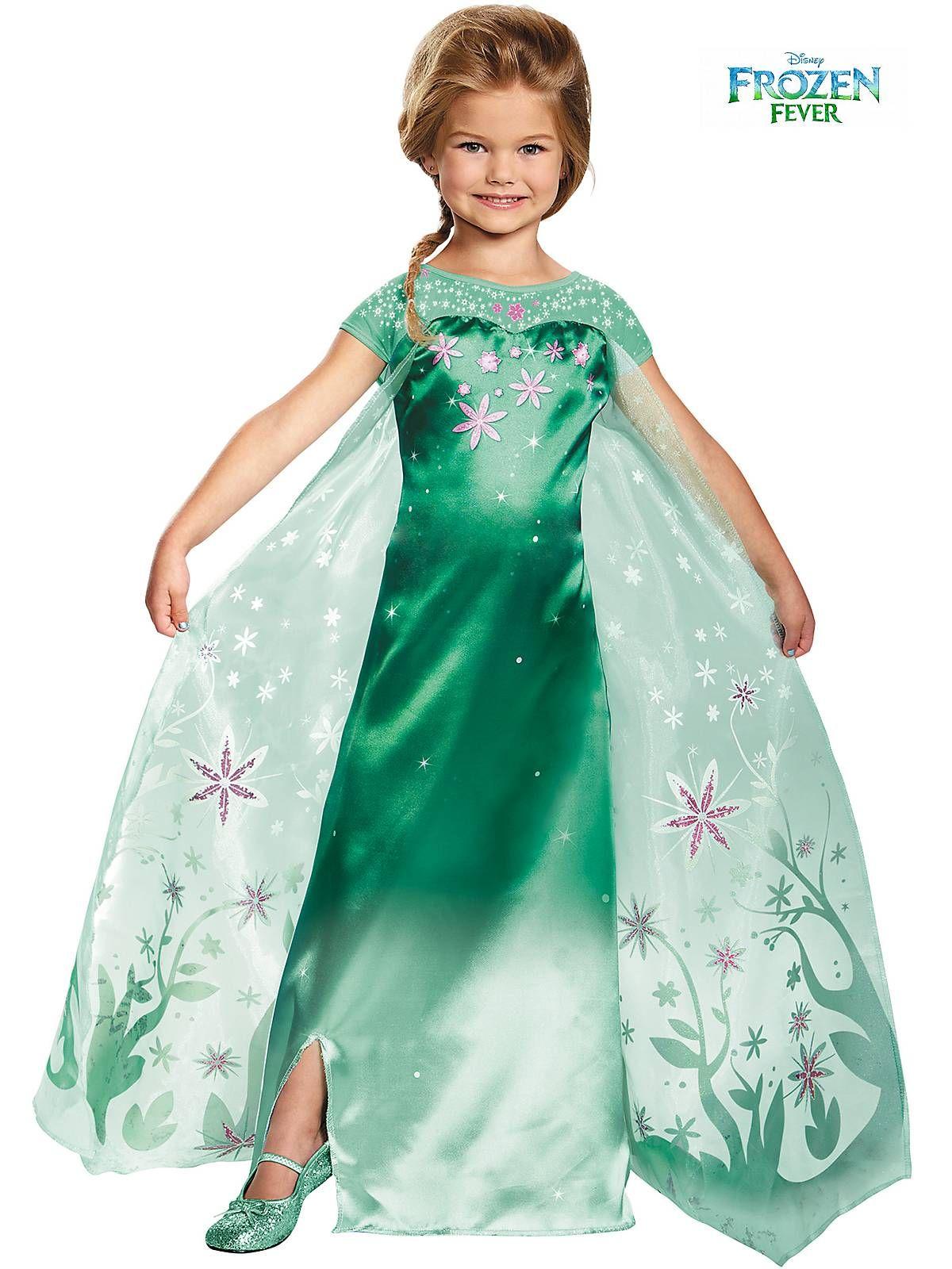 girls elsa frozen fever deluxe costume | halloween stuff | pinterest
