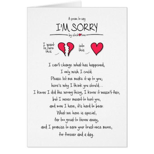 Sorry Cards | Zazzle