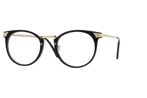71aebf2cb0e Black Plastic Full-Rim Frame with Metal Alloy Temples  785321