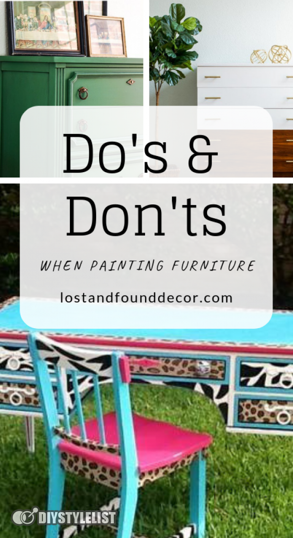 Do's & Dont's When Painting Furniture.  Dos and Don'ts when Painting Furniture by Lost and Found Decor Online Shop repurposed furniture, painted furniture, diy furniture, furniture#homedecor#diy#diyhomedecor #diyfurniture #diyfurnitureideas #diyfurnituredesign