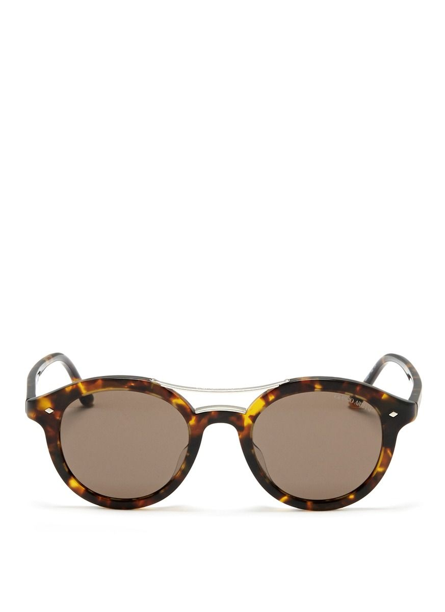 deb684833fdb GIORGIO ARMANI Tortoise shell round sunglasses Sunglasses Outlet