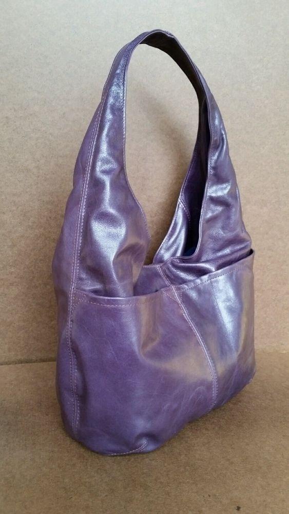 Distressed purple leather handbag - slouchy hobo purse - women shoulder bag   Fgalaze  Hobo 7fff1195d9caf