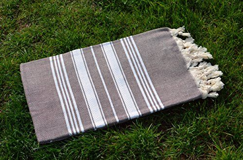Brown Turkish Towel Peshtemal – 100% Natural Dyed Cotton – for Beach Spa Bath Swimming Pool Hammam Sauna Yoga Pilates Fitness Gym Picnic Blanket (Dandelion Textile)   Brown Turkish Towel Peshtemal - 100% Natural Dyed Cotton - for Beach Spa Bath Swimming Pool Hammam Sauna Yoga Pilates Fitness Gym Picnic Blanket (Dandelion Textile) Peshtemal is a traditional Turkish bath towel. They have been used for centuries in Turkish hammam. (Hammam is an Anatolian steam bath.) As Dandelion Textil..