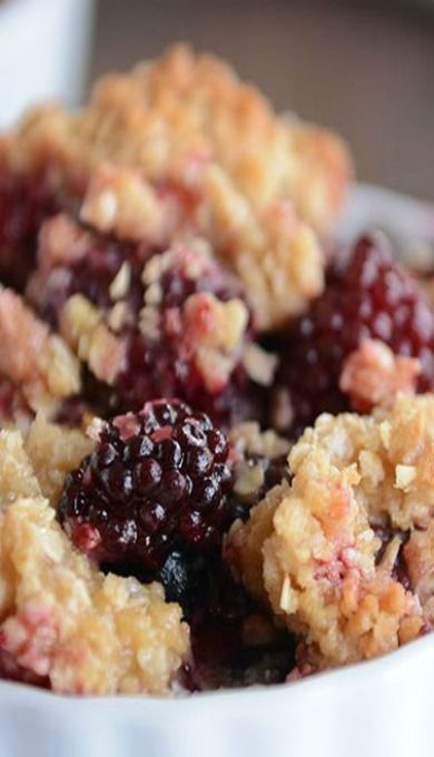 The Best Blackberry Crisp is part of Blackberry crisp - This amazing blackberry crisp loaded with juicy fruit and a buttery crisp topping is simple and so delicious! Plus, you can sub in other berries, too!