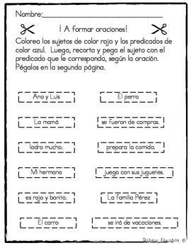 Sujeto y Predicado | Subject or Predicate in Spanish | Spanish ...
