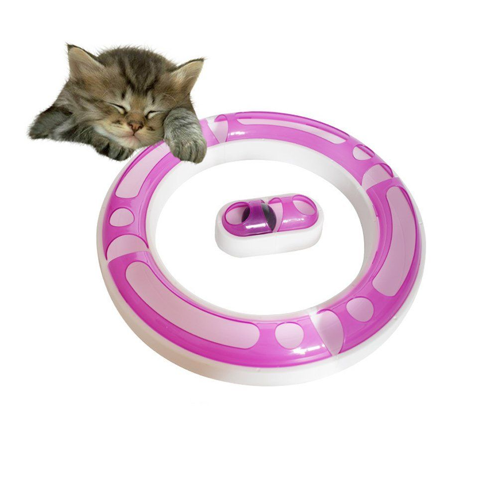 365mx Pet Cats Balls Toys Roller Circuit Toy For Cats Funny Cat Interactive Track Circle Toys Suitable For Kitten Kitty Plastic Cat Toys Cat Ball Catnip Toys