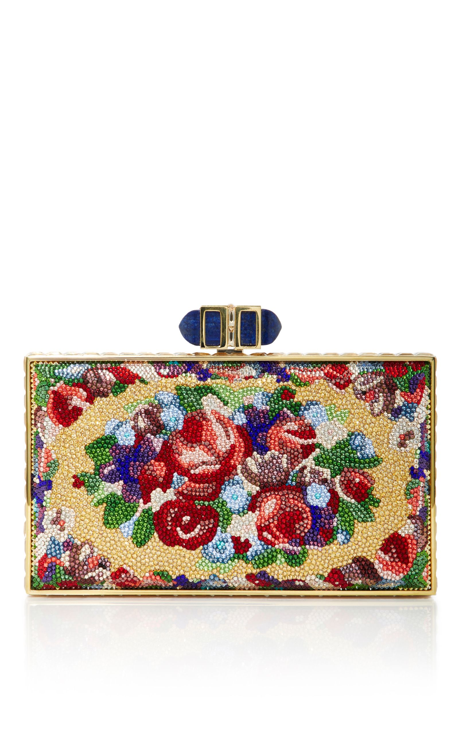Buy Cheap Low Shipping Aubusson Coffered Rectangle Clutch Judith Leiber Sale Collections How Much Cheap Price v3pWdHl
