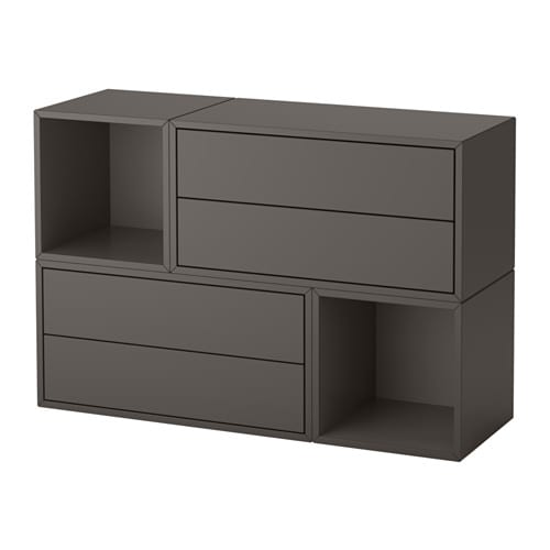 Ikea Eket Wall Mounted Cabinet Combination Dark Gray Ikea Regalsysteme Und Schrank