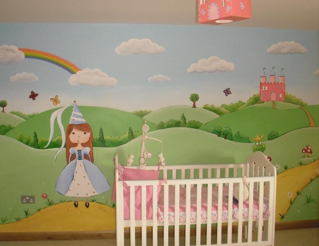 Princess Nursery Wall Mural   Www.custommurals.co.uk Castle Frog Rainbow  Fairytail Part 61