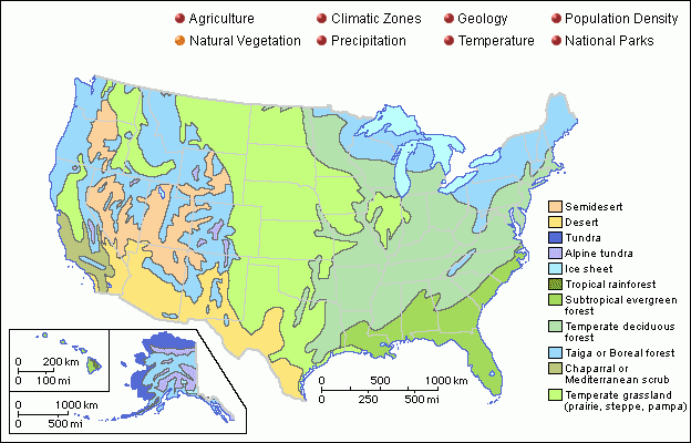 Tons Of Different Maps Of The United States Agriculture - Vegetation map us