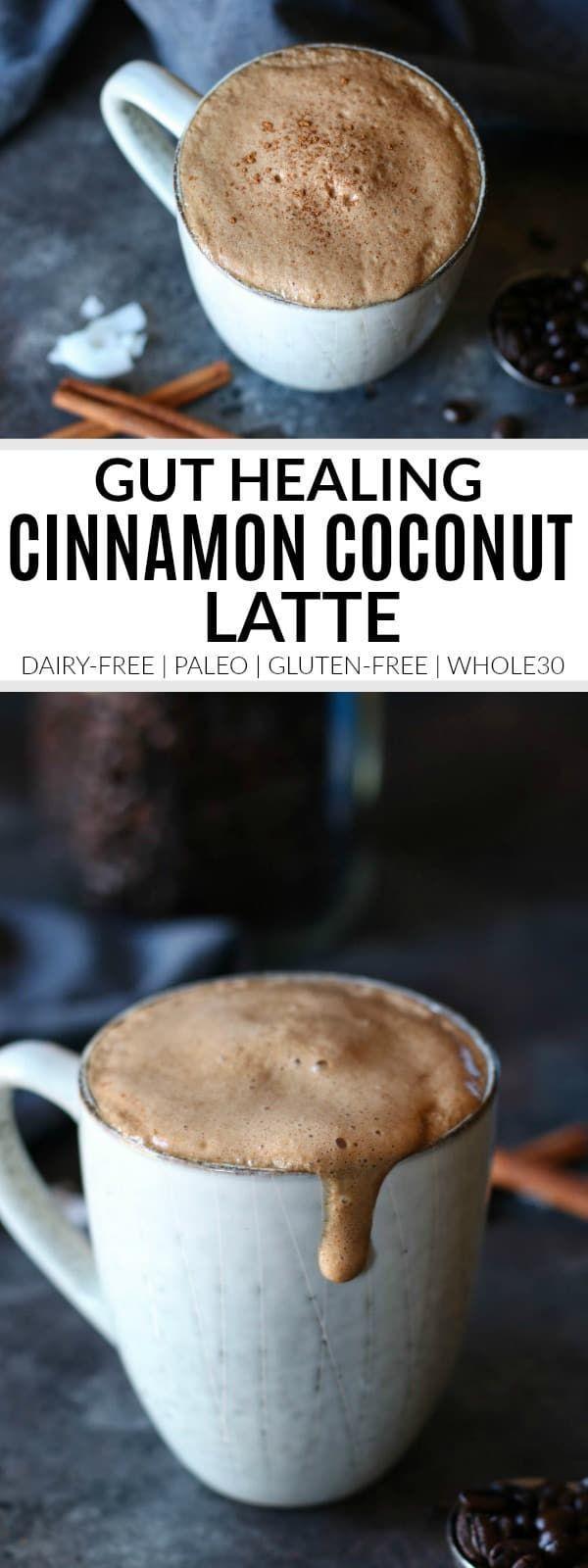 Cinnamon Coconut Latte #whole30recipes