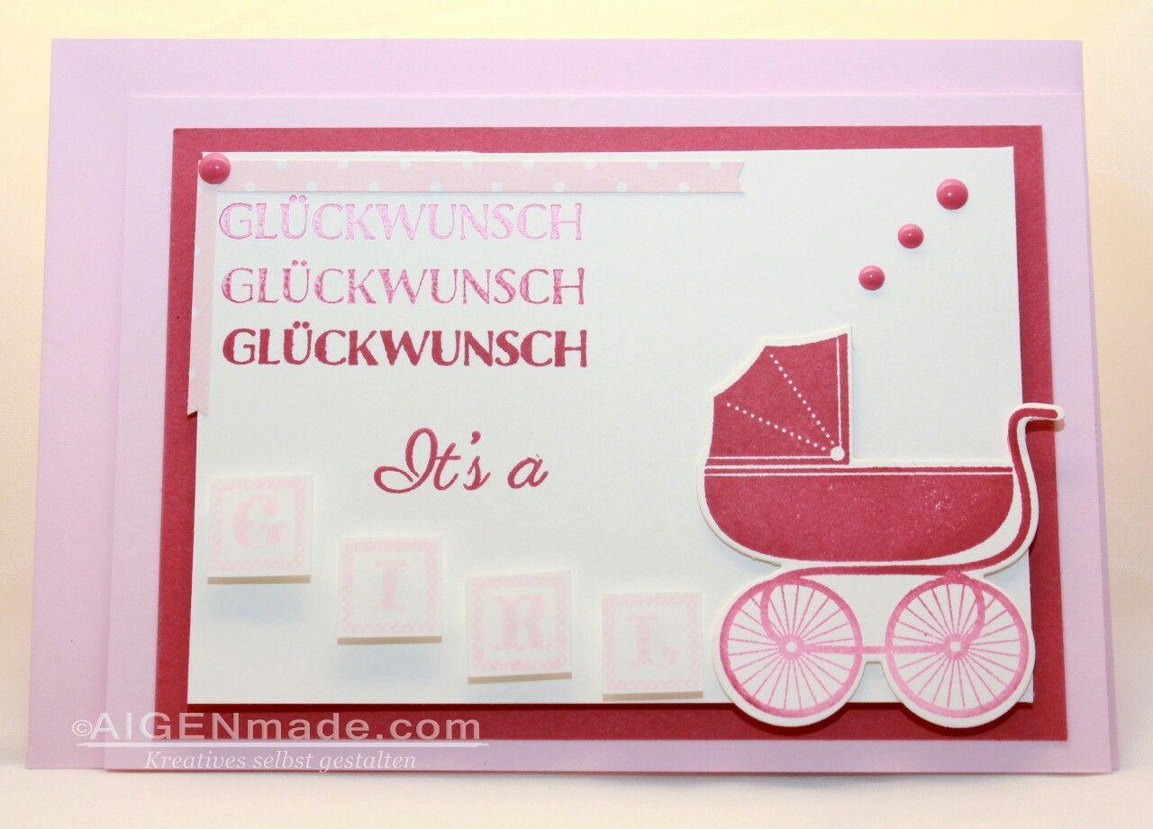 Babykarte Glückwunsch Zur Geburt Von Einem Mädchen Http://m.aigenmade.com
