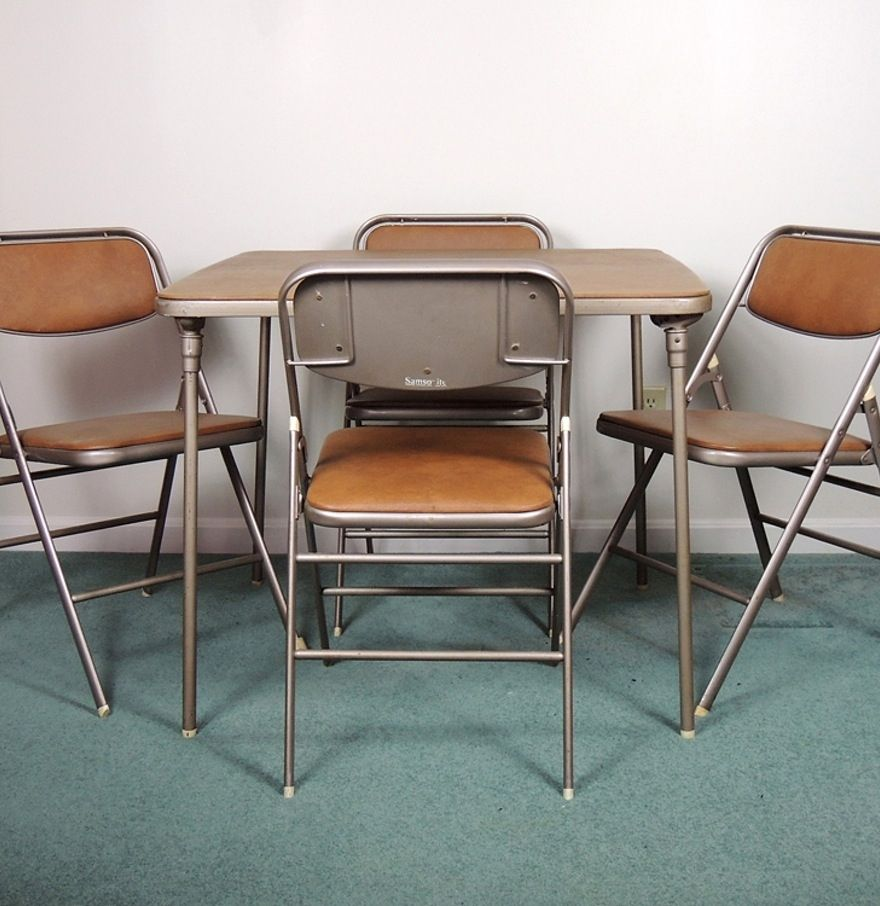 Folding Card Table And Chairs Samsonite