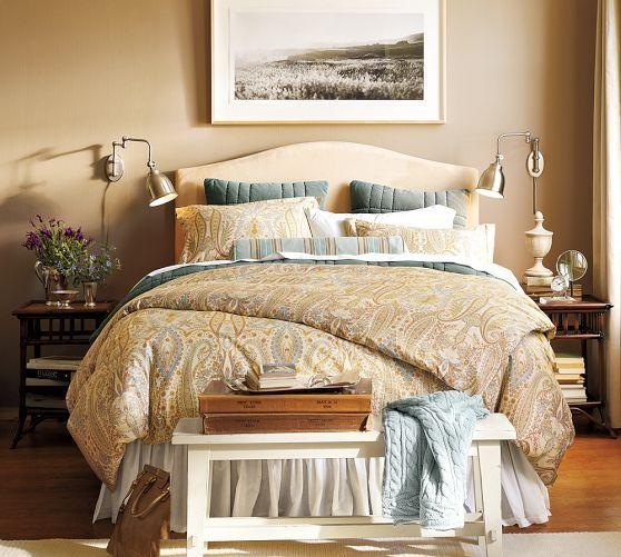 Best Blythe Paisley Organic Sateen Duvet Cover Shams 640 x 480