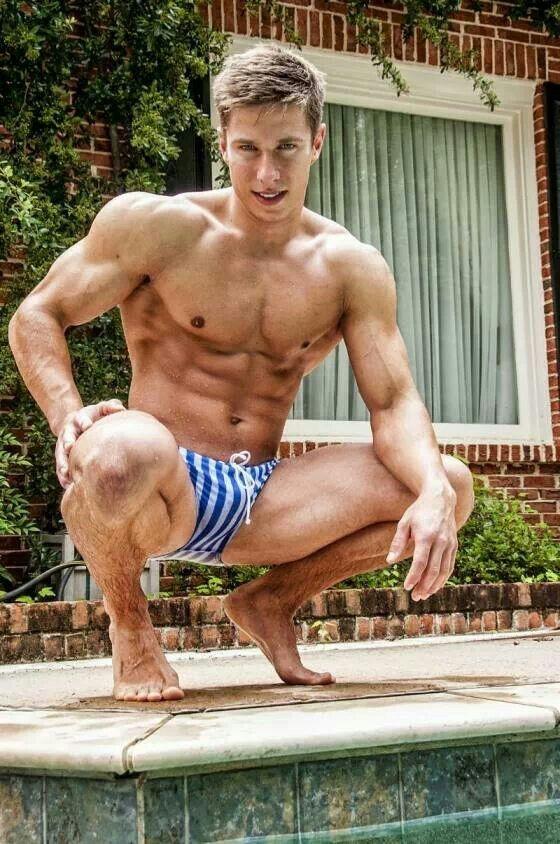 Gay blonde muscle