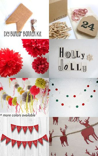 From DIY kits, to just a little help to fully made-- no faster way to decorate for the holiday then to string up a banner or #garland! Check out #DIY #banner ideas on the blog! http://schulmanart.blogspot.com/2013/12/diy-banner.html #holiday #decorations