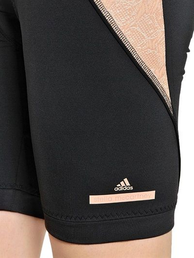 ADIDAS BY STELLA MCCARTNEY - PADDED MICROFIBER CYCLING SHORTS - LUISAVIAROMA - LUXURY SHOPPING WORLDWIDE SHIPPING - FLORENCE