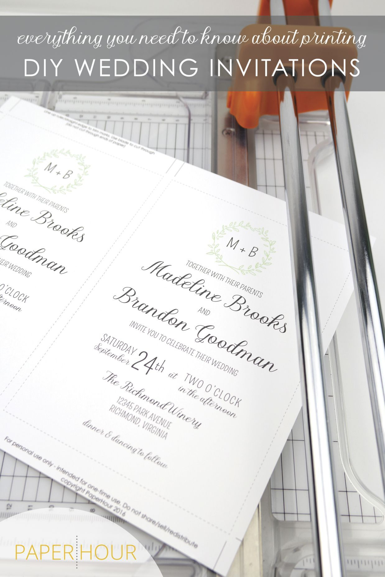 how to print diy wedding invitations everything you need to know