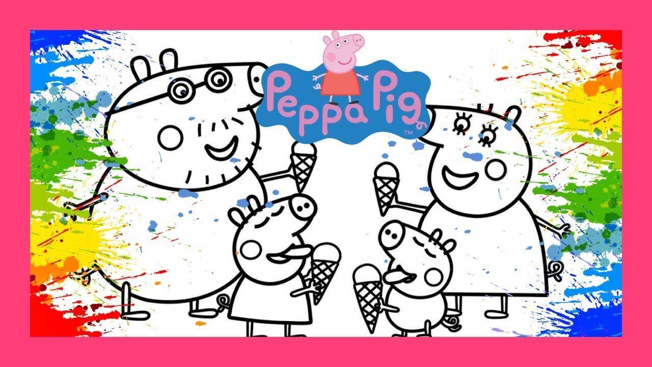 Desenhos Para Colorir Da Peppa Pig Colorindo A Familia Da Peppa Tomando Desenhos Para Colorir Desenhos Desenho Familia