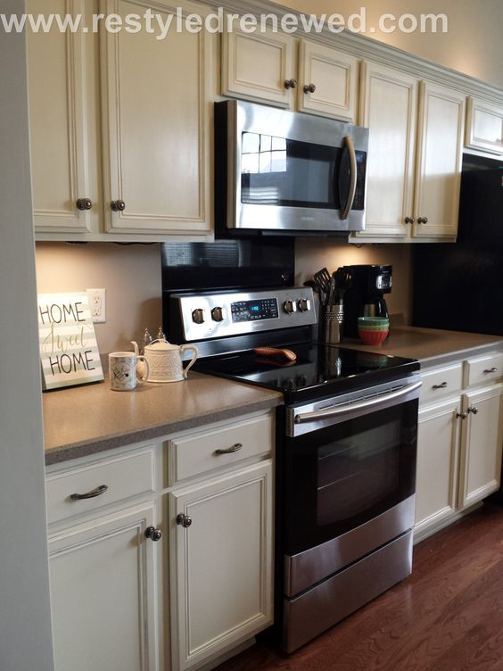 Bon Annie Sloan Chalk Paint Kitchen Cabinets Painted. We Used A Mix Of Old White  And Pure White To Get This Creamy Color. How To: ...