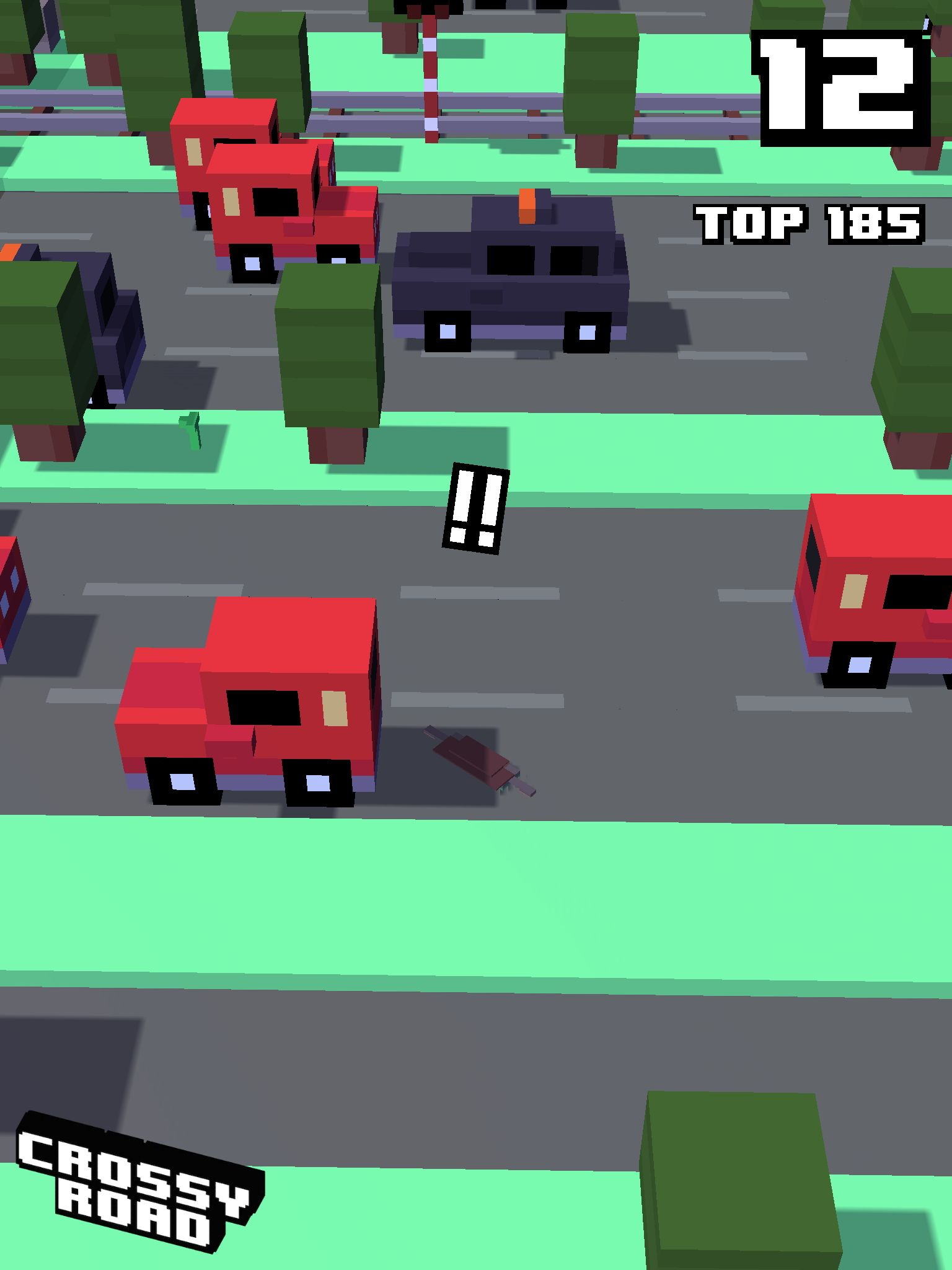 12 on #crossyroad. My top is 185.