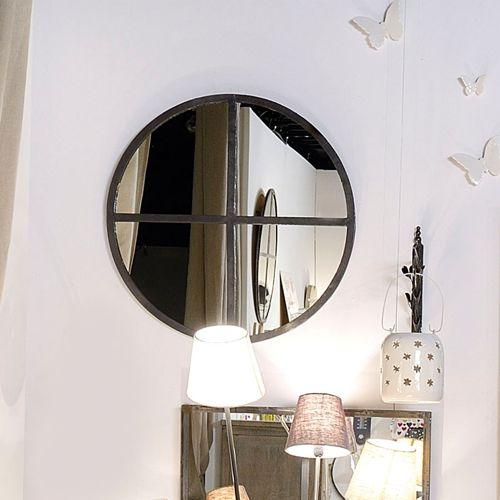 Miroir en métal rond Jardin d\u0027Ulysse Deco Pinterest