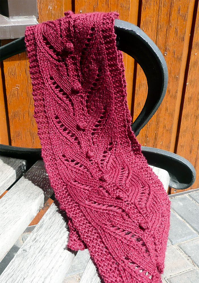 Free Knitting For Firefly Scarf This Easy Lace Scarf Features A 14