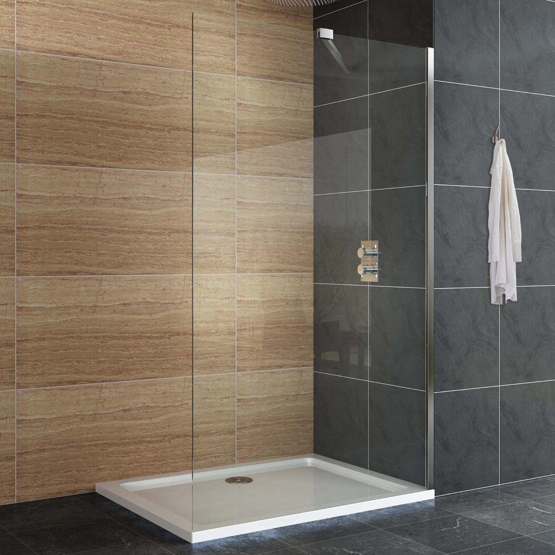 1200 X 700mm Designer Wetroom Easyclean Glass Screen Shower