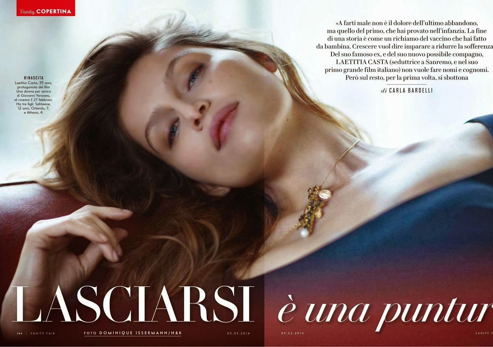Laetitia Casta for Vanity Fair Italy March 2014 (met