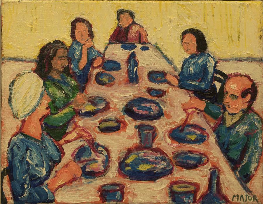 Charming Dinner Painting   Dinner Party By Clarence Major