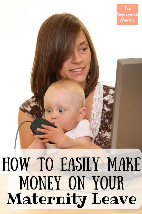 Newborns sleep. A lot. So take advantage of that down time by easily making money on your maternity leave!
