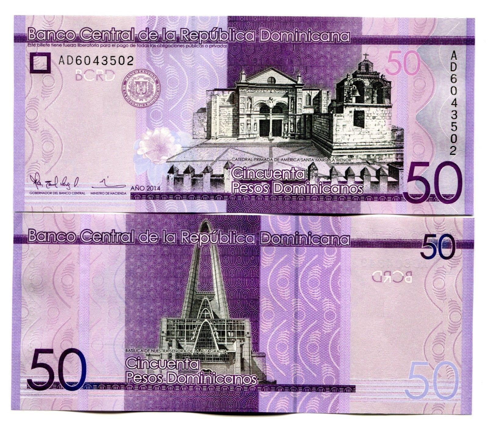 Dominican Republic 50 Pesos Dominicanos P New Unc