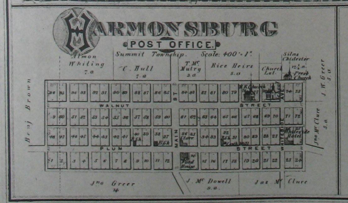 Harmonsburg Map Sheet Music Map Post Office