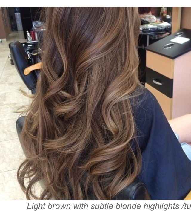 Light Brown With Blonde Highlights Brown Wavy Hair Colored Hair Tips Hair Styles